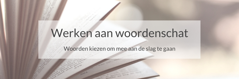 Werken aan woordenschat: woorden kiezen om mee aan de slag te gaan