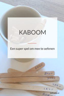 Kaboom, een super spel om mee te oefenen