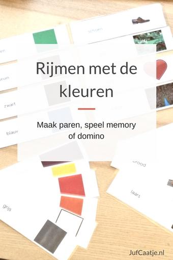Rijmen met kleuren - maak paren, speel memory of domino